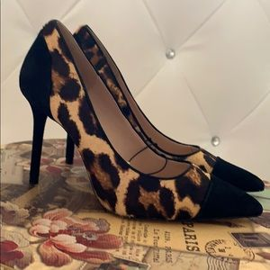 Zara animal print pumps